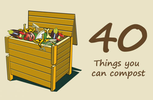 40 Things you can compost